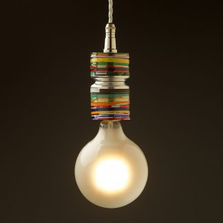 Small Drop Tube Stripes Pendant Light Fitting of Can Base's